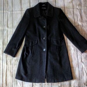 Ann Klein wool cashmere blend dress coat sz 12